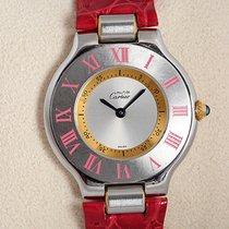 Cartier 21 Must de Cartier Steel 35mm Silver Roman numerals
