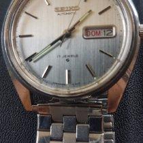 Seiko 5 Steel 40mm Silver No numerals