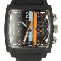 TAG Heuer Monaco Calibre 36 Steel 40.5mm Black United States of America, New York, Lynbrook