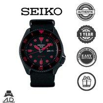 Seiko 5 Sports Steel Black No numerals
