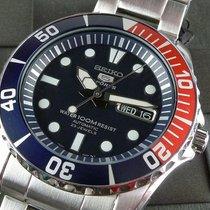 Seiko 5 Sports Сталь 41mm Синий Без цифр
