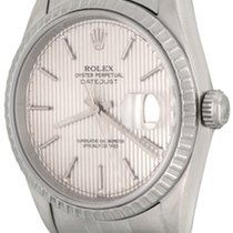 Rolex pre-owned Automatic 36mm Silver Sapphire crystal