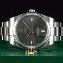 Rolex Oyster Perpetual 39 Steel 39mm Grey No numerals