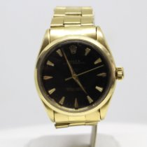 Rolex Oyster Perpetual Yellow gold 34mm Black No numerals
