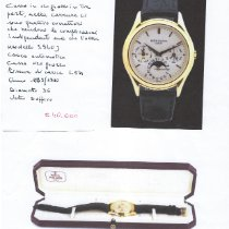Patek Philippe Perpetual Calendar Желтое золото 36mm Золотой Без цифр