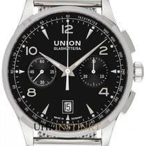 Union Glashütte Acier 42mm Remontage automatique D008.427.11.057.00 nouveau