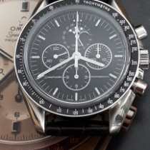Omega Speedmaster Professional Moonwatch Moonphase Acier 42mm Noir Sans chiffres France, PARIS