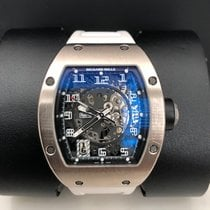 Richard Mille RM 010 Oro blanco 48mm Transparente Arábigos