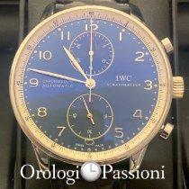 IWC Portuguese Chronograph Acero 41mm Azul Arábigos