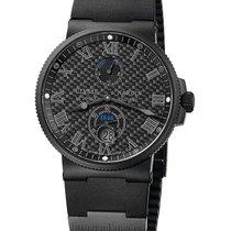 Ulysse Nardin Marine Chronometer 41mm новые Автоподзавод Часы с оригинальными документами и коробкой 263-66LE-3C/42-BLACK
