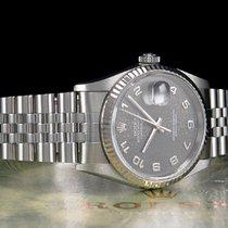 Rolex Datejust Stahl 36mm Grau Arabisch