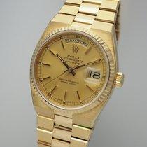 Rolex Day-Date Oysterquartz Zuto zlato 36mm Zlatan Bez brojeva