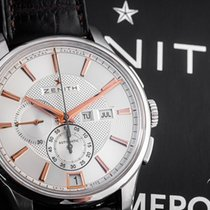 Zenith Steel Automatic White Arabic numerals 42mm pre-owned El Primero Winsor Annual Calendar