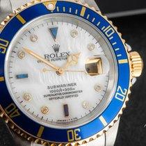 Rolex Submariner Date Золото/Cталь 40mm Перламутровый Без цифр
