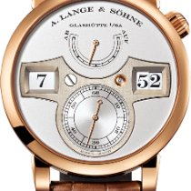 A. Lange & Söhne Rose gold Manual winding Silver Arabic numerals 41.9mm pre-owned Zeitwerk