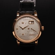 A. Lange & Söhne Red gold Manual winding Silver Roman numerals pre-owned Lange 1
