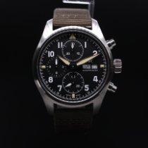 IWC Pilot Spitfire Chronograph Сталь 41mm Чёрный Aрабские