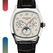 Patek Philippe White gold Automatic Silver Arabic numerals 37mm new Perpetual Calendar
