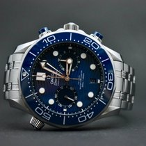 Omega Seamaster Diver 300 M pre-owned 44mm Blue Chronograph Date Steel