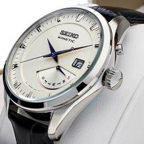 Seiko Kinetic Steel 42mm White Arabic numerals
