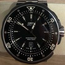 Oris ProDiver Date pre-owned 49mm Black Titanium