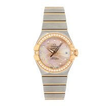 Omega Constellation Ladies Gold/Steel 27mm Mother of pearl No numerals United Kingdom, LE1 6DN