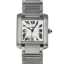 Cartier Tank Française Steel 28mm Silver Roman numerals United States of America, Maryland, Baltimore, MD
