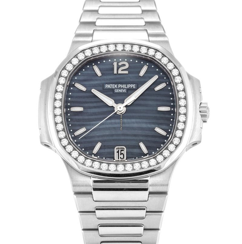Patek Philippe Nautilus Stainless MOP Blue Dial 33MM Watch 70181A 010