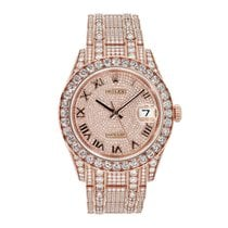 Rolex Pearlmaster Rose gold 39mm Transparent Roman numerals