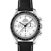 Omega Speedmaster Professional Moonwatch Stahl 42mm Weiß Keine Ziffern
