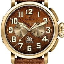 Zenith Yellow gold Automatic Brown Arabic numerals 45mm new Pilot Type 20