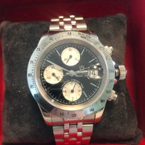 Tudor Steel Automatic Bordeaux Arabic numerals 40mm pre-owned Tiger Prince Date