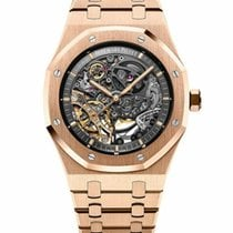 Audemars Piguet Royal Oak Double Balance Wheel Openworked Roségoud 41mm Doorzichtig Geen cijfers