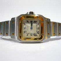 Cartier Santos Galbée Gold/Steel 24mm White Roman numerals