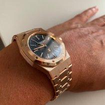 Audemars Piguet Royal Oak Jumbo Pозовое золото 39mm Синий Без цифр