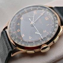 Chronographe Suisse Cie Roségold Handaufzug Schwarz 37mm gebraucht