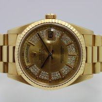 Rolex Day-Date 36 Geelgoud 36mm Goud Geen cijfers Nederland, Rijnsburg