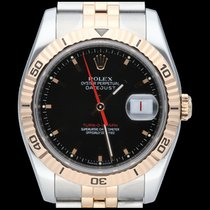 Rolex Datejust Turn-O-Graph Goud/Staal 36mm Zwart Geen cijfers