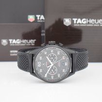 TAG Heuer Carrera Calibre 36 gebraucht 43mm Chronograph Flyback-Funktion Datum Tachymeter Kautschuk