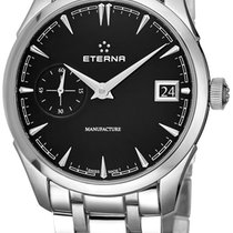 Eterna Steel 41.50mm Automatic 7682.41.40.1700 new