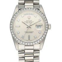 Rolex Day-Date Platinum 36mm White United States of America, New York, New York