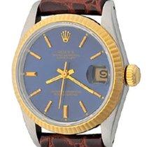 Rolex Lady-Datejust Acier 30mm Bleu Sans chiffres