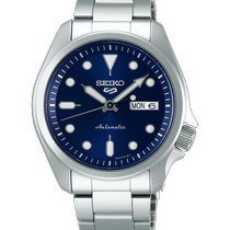 Seiko 5 Sports Acier 40mm Bleu Sans chiffres