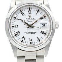 Rolex Oyster Perpetual Date Acier 34mm Blanc Sans chiffres France, Lyon