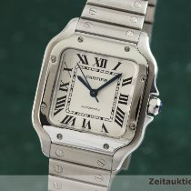 Cartier Santos (submodel) używany 33mm Srebrny Stal
