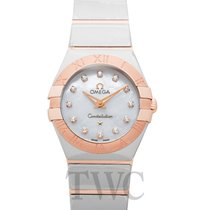 Omega Constellation Quartz Acier 24mm Nacre