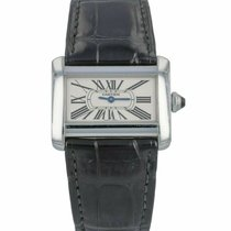Cartier Tank Divan pre-owned 31mm Silver Leather