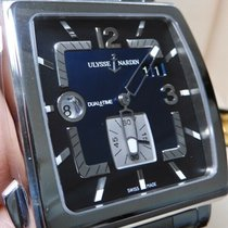 Ulysse Nardin Quadrato Dual Time Acier 42mm Noir