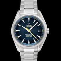 Omega Seamaster Aqua Terra Steel 41.5mm Blue United States of America, California, Burlingame