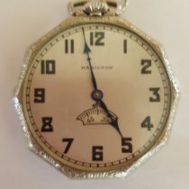 Hamilton Gold/Steel 43mm Manual winding Vintage 1930's Hamilton 14k Gold Filled Pocket Watch, Grade 912, Rotating Seconds, 17 Jewel, Adjusted, Hamilton Watch Co., Good Condition pre-owned United States of America, California, Rancho Santa Fe, CA
